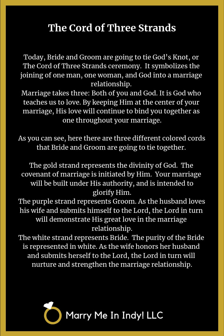 The Cord of Three Strands - God's Knot With PDF's