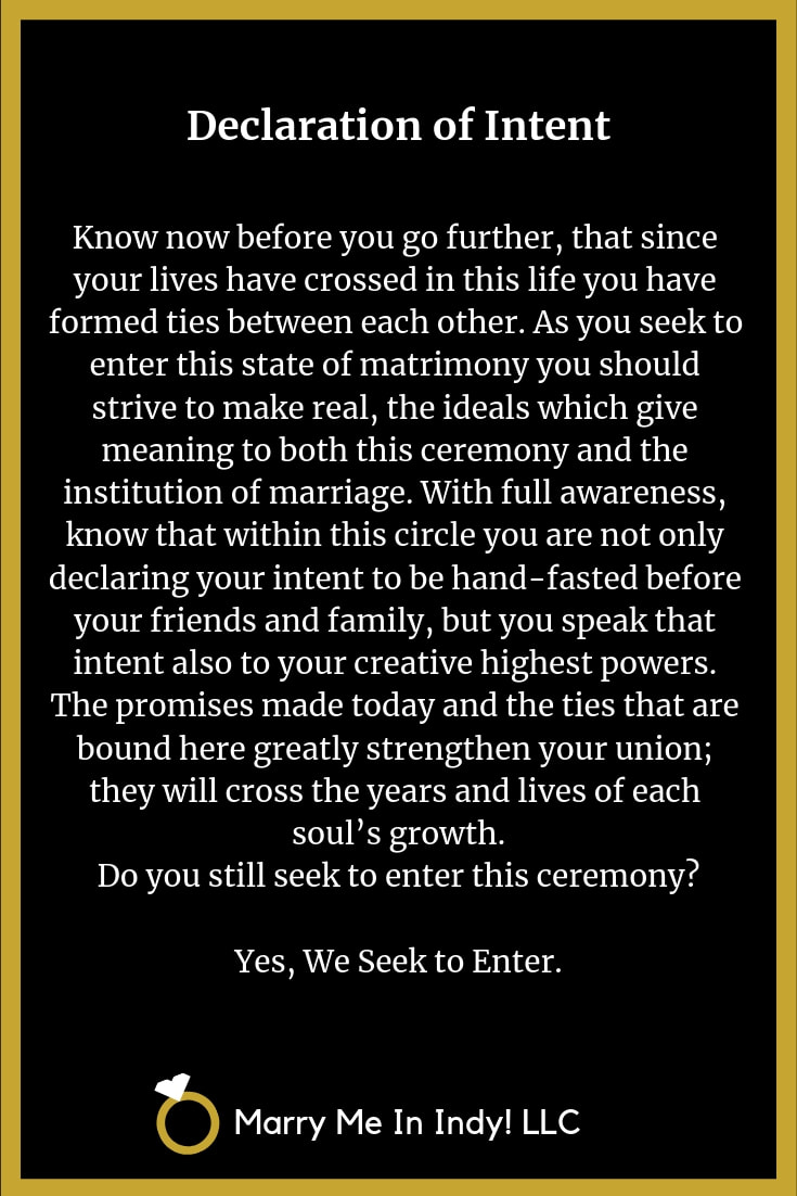 The Declaration of Intent to Marry 16