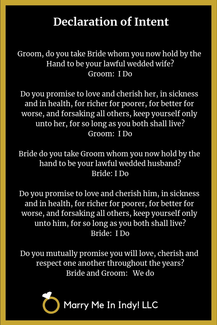 The Declaration of Intent to Marry 17