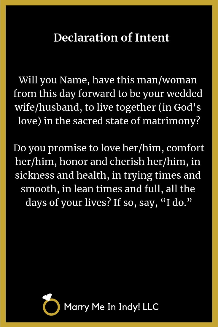 The Declaration of Intent to Marry 20