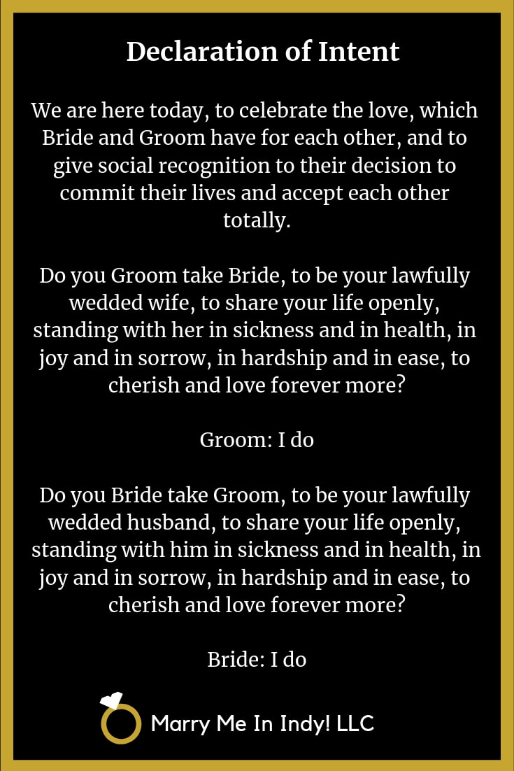 The Declaration of Intent to Marry 6