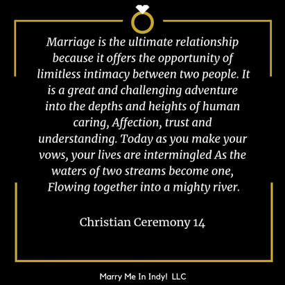 ​Christian Wedding Ceremony Script 14 With PDF, Marry Me In Indy! LLC Wedding Ceremony Pro