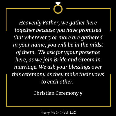 Christian Wedding Ceremony Script 5 With PDF Marry Me In Indy! LLC Wedding Ceremony Pro