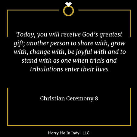Christian Wedding Ceremony Script 8 With PDF  Marry Me In Indy! LLC Wedding Ceremony Pro