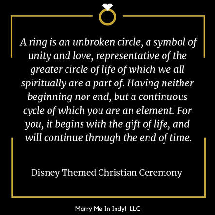 Disney Themed Christian Ceremony Script with PDF Marry Me In Indy! LLC  Wedding Ceremony Pro