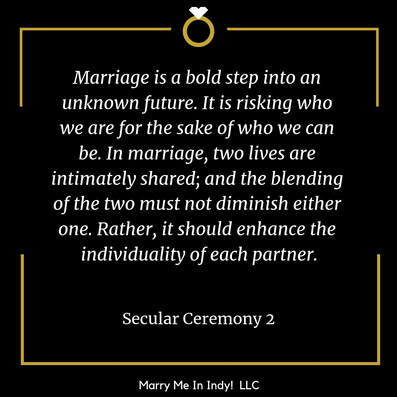 Secular, Non-Religious Wedding Ceremony Script 2 With PDF, Marry Me In Indy!  LLC Wedding Ceremony Pro
