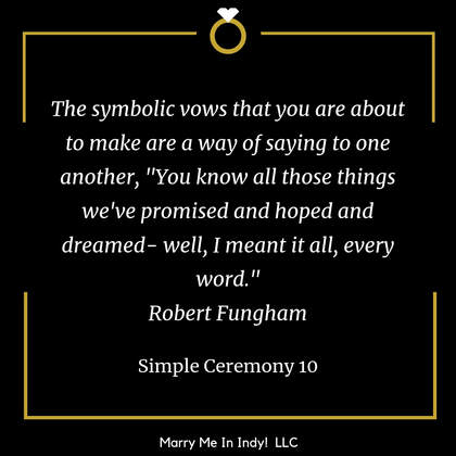 Simple Wedding Ceremony Script 10 with PDF Marry Me In Indy! LLC
