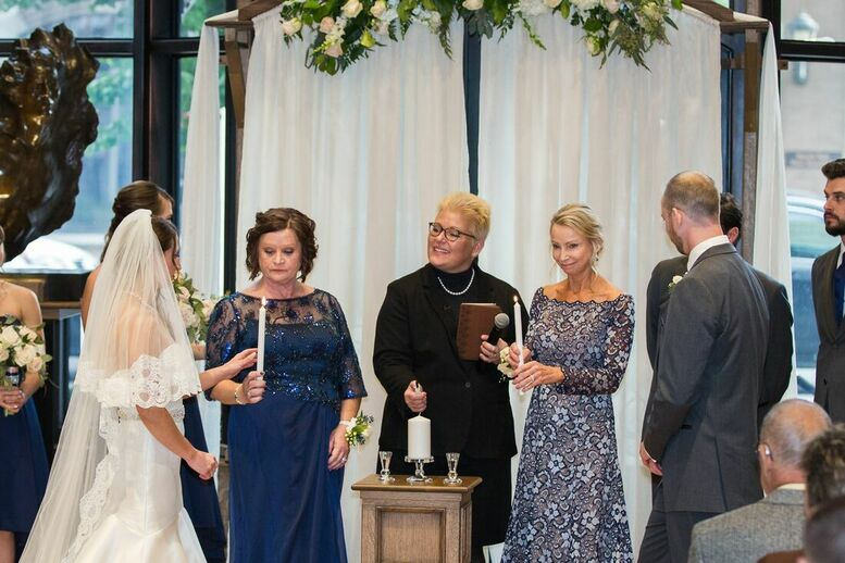 Lighting of the Unity Candle with moms, Marry Me In Indy! LLC Wedding Ceremony Pro