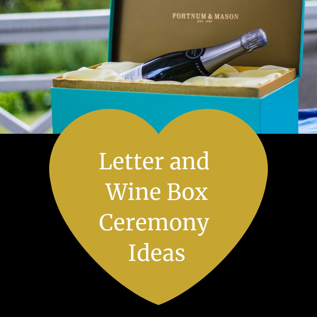Wine and  Letter Unity Box  Ceremony.  Wedding Ceremony Pro.  Marry Me In Indy! LLC
