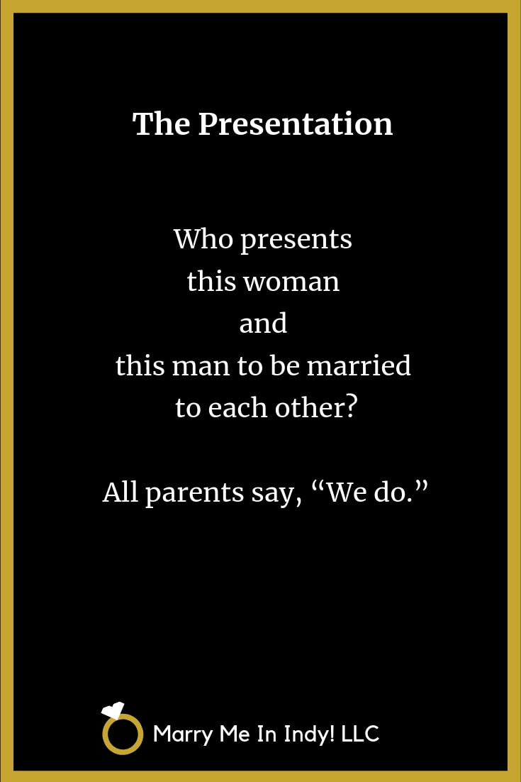 Presentation of the Bride (and Groom) In Your Wedding Ceremony Script with PDF's