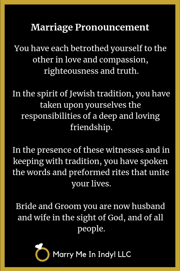 Marriage Pronouncement 15 - Jewish
