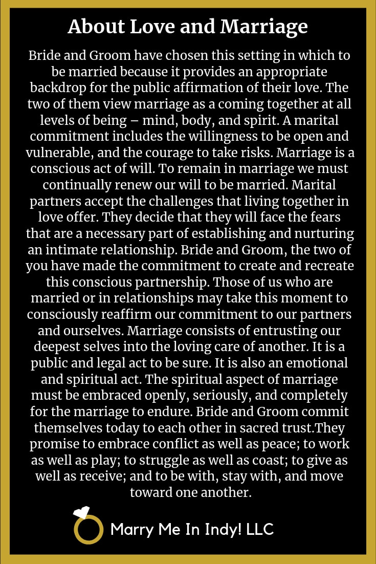 Words About Love And Marriage For Your Wedding Ceremony with PDF's