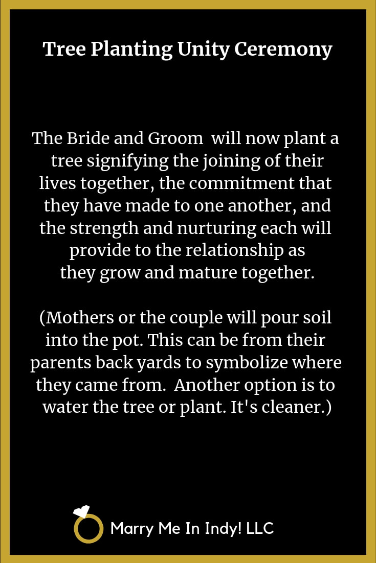 Tree Planting Ceremony Scripts for a Wedding With PDF's